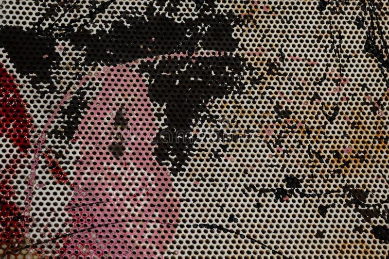 Поверхность утюга ржавая Слезли краска на текстуре металлического листа абстрактная предпосылка стоковые изображения