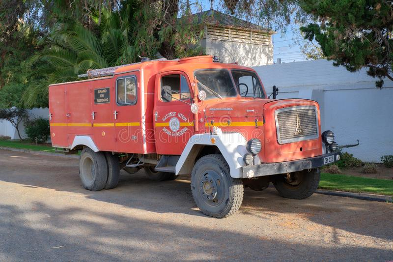 Пожарная машина в Karoo стоковое фото
