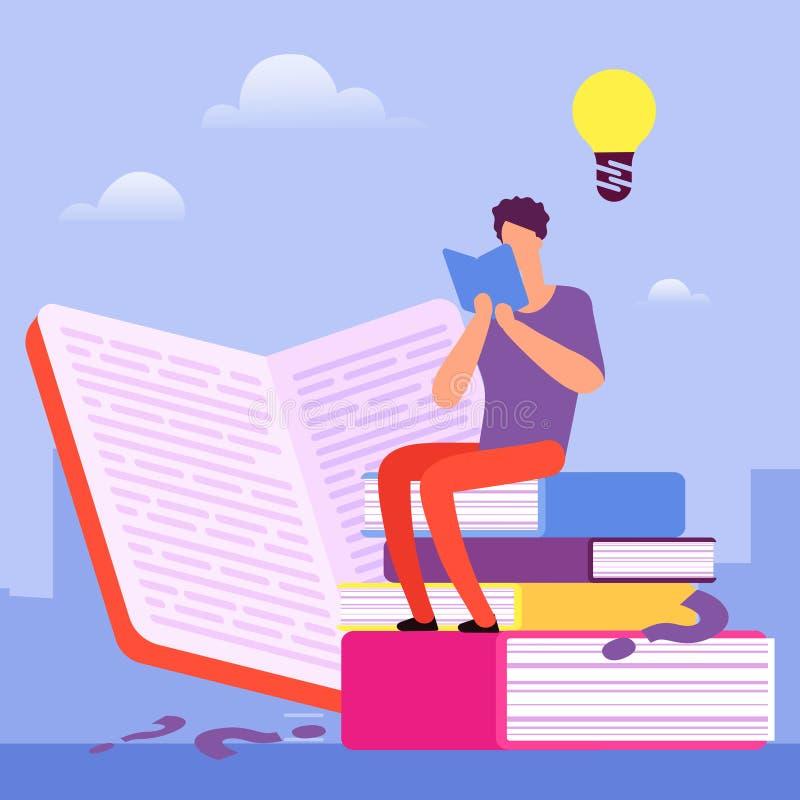 Поиск для ответов к вопросам в книгах Концепция вектора образования собственной личности бесплатная иллюстрация