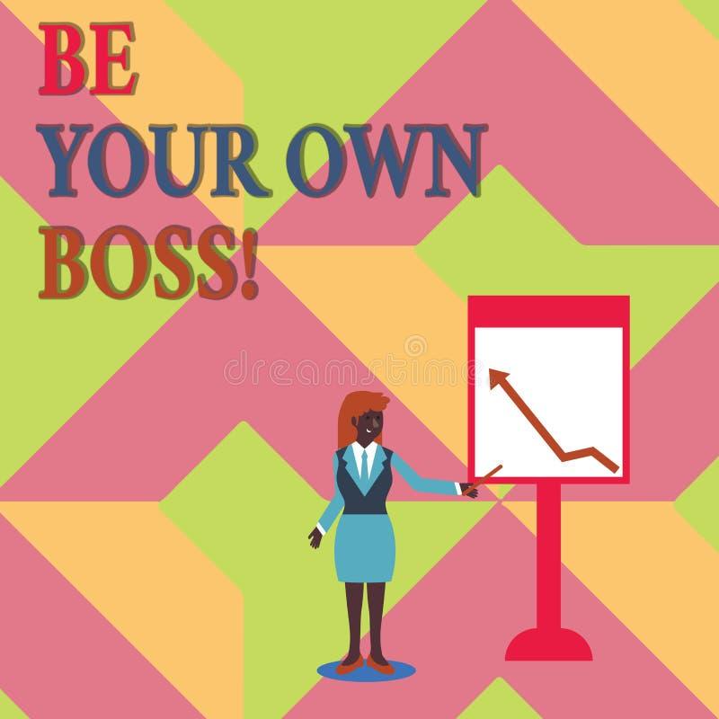 Показывать знака текста ваш собственный босс Схематическая компания начала фото работая не по найму запуск предпринимателя работы бесплатная иллюстрация