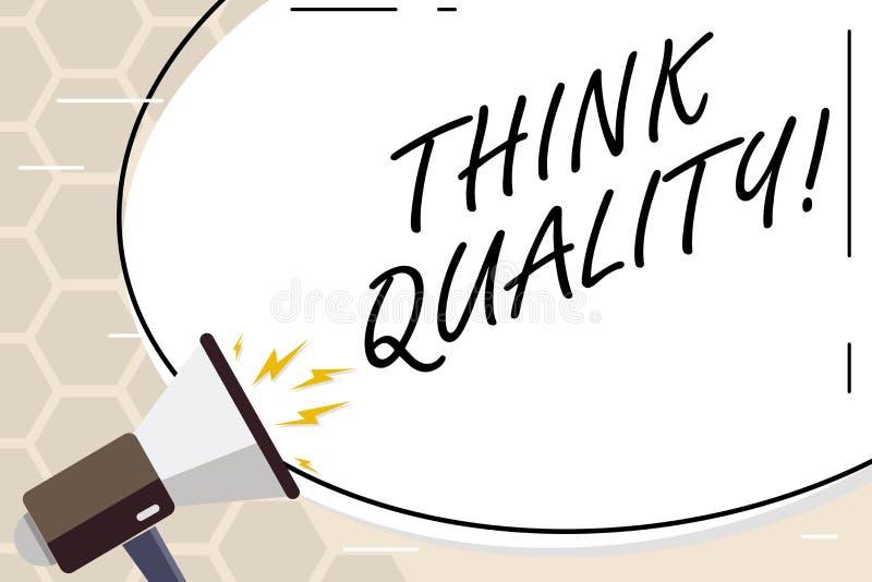 Показ знака текста думает качество Схематическое фото думая идей новаторских ценных решений успешных бесплатная иллюстрация