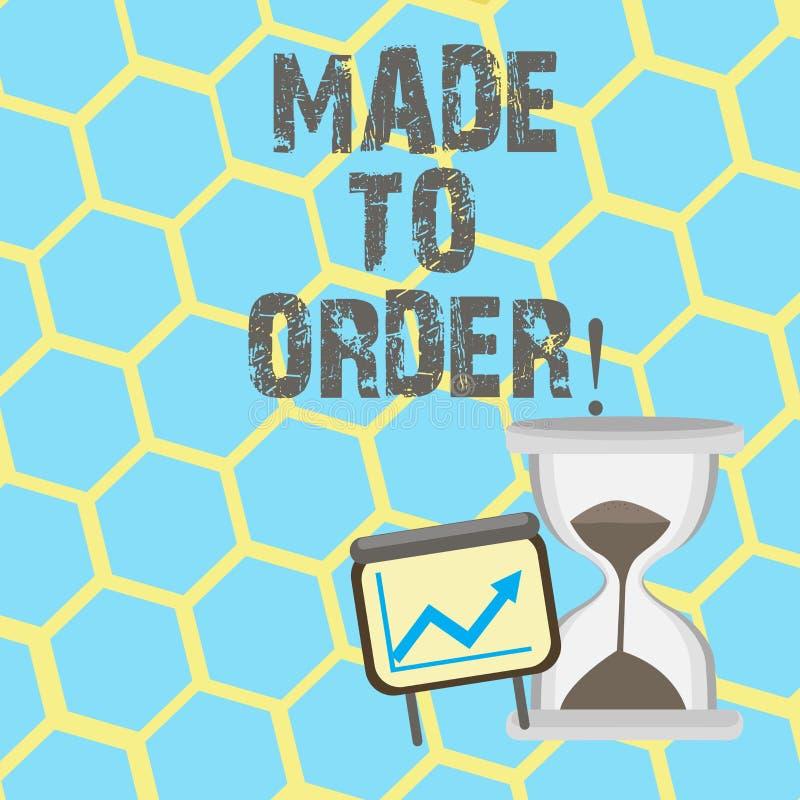 Показ знака текста сделанный для того чтобы приказать Схематическое фото что-то сделанное специально для кто-то портняжничало под бесплатная иллюстрация