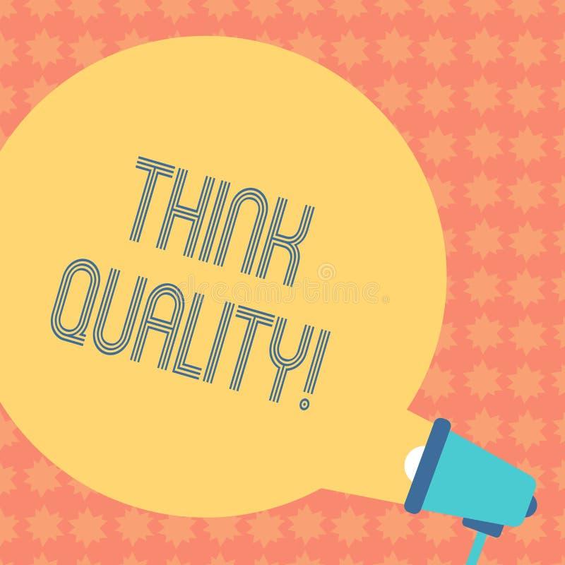 Показ примечания сочинительства думает качество Думать фото дела showcasing идей новаторских ценных решений успешных иллюстрация вектора