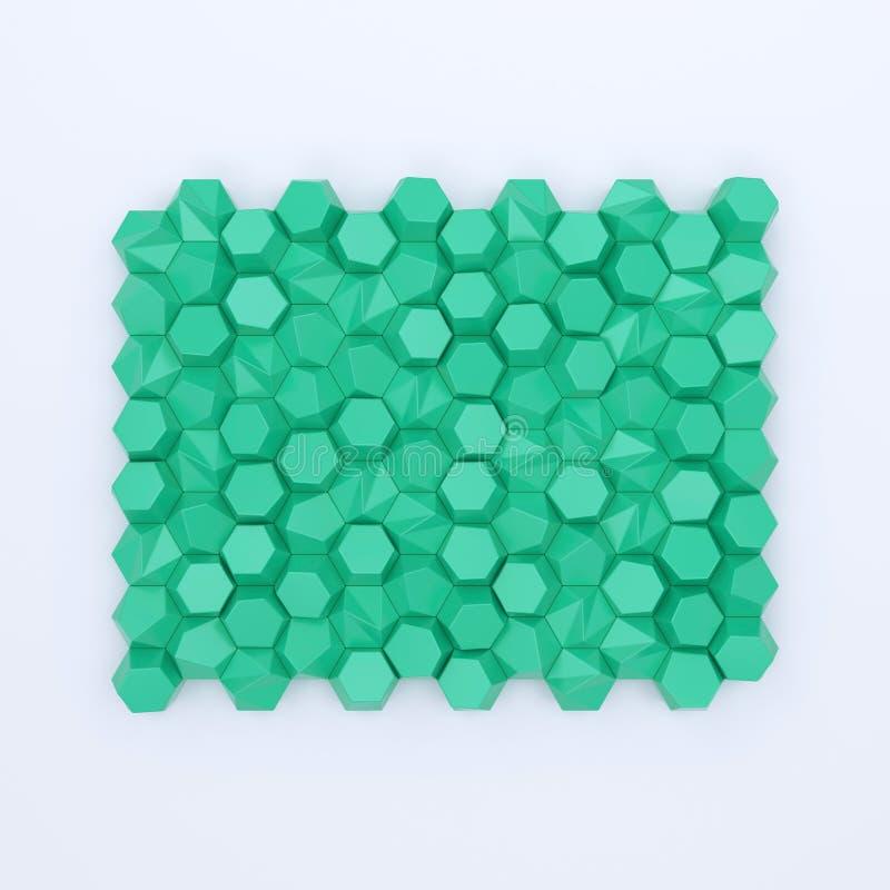 Покрашенный фон абстрактных шестиугольников пустой иллюстрация вектора