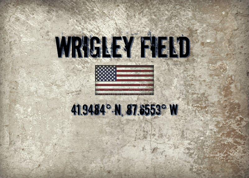 поле wrigley стоковое изображение rf