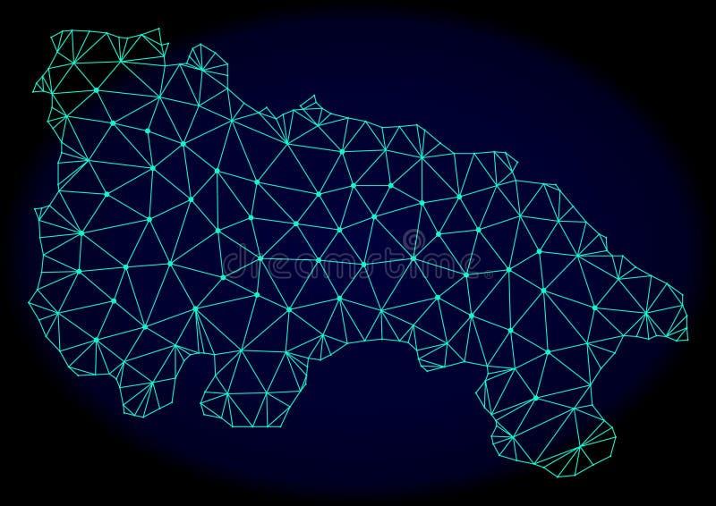 Полигональная карта конспекта вектора сетки рамки провода Испании - La Rioja иллюстрация вектора