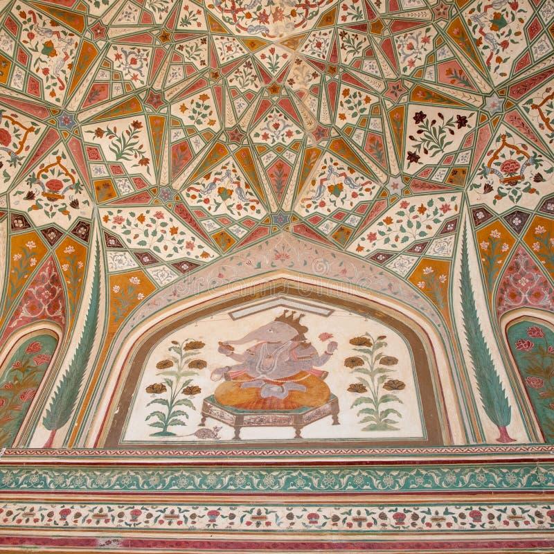Политик Ganosh на форте Amer в Джайпуре, Индии стоковые изображения