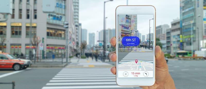 Польза ai карты, алгоритмы искусственного интеллекта определить какие индивидуалы хотят видеть когда локационный сервис GPS повер стоковое фото
