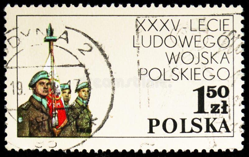 Польский блок, сила ООН Ближнего Востока аварийная, 35th anniv serie народной армии, около 1978 стоковое фото rf