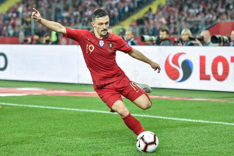 Польша против 2:3 Португалии В действии Марио Rui стоковая фотография