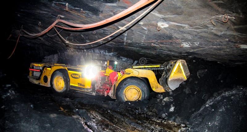 Подземное минирование и оборудование палладиума платины стоковая фотография