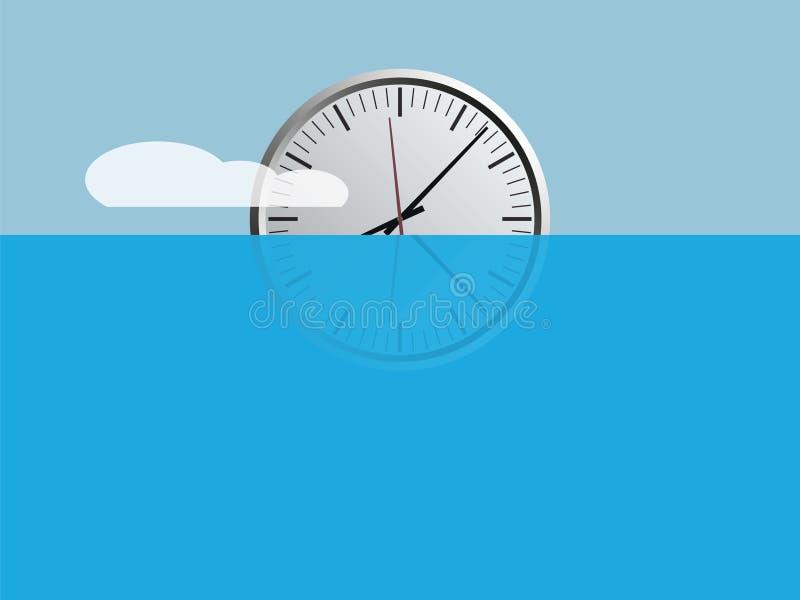 Подъем часов иллюстрация вектора