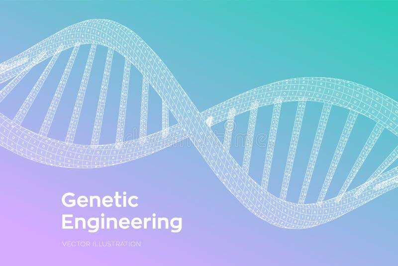 Последовательность дна Человеческий геном бинарного кода концепции E r бесплатная иллюстрация