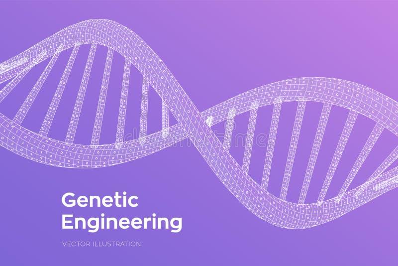 Последовательность дна Человеческий геном бинарного кода концепции E r иллюстрация вектора