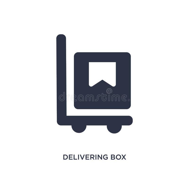 поставлять значок коробки на белой предпосылке Простая иллюстрация элемента от концепции упаковки и доставки иллюстрация штока