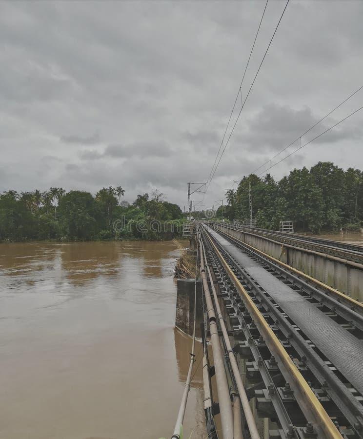 Пост-эффекты потока Кералы стоковая фотография