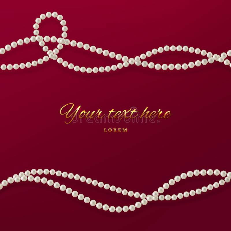 Потоки жемчугов beadworker jewelry вектор предпосылки красивейший бесплатная иллюстрация