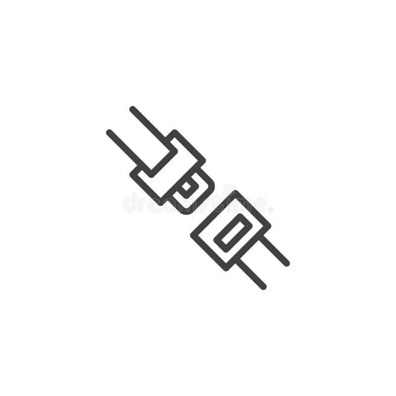 Поточная линия значок автокресла иллюстрация вектора