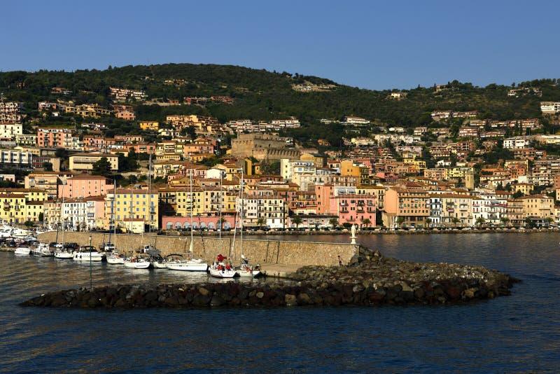 Порту Santo Stefano, Тоскана, Италия стоковая фотография rf