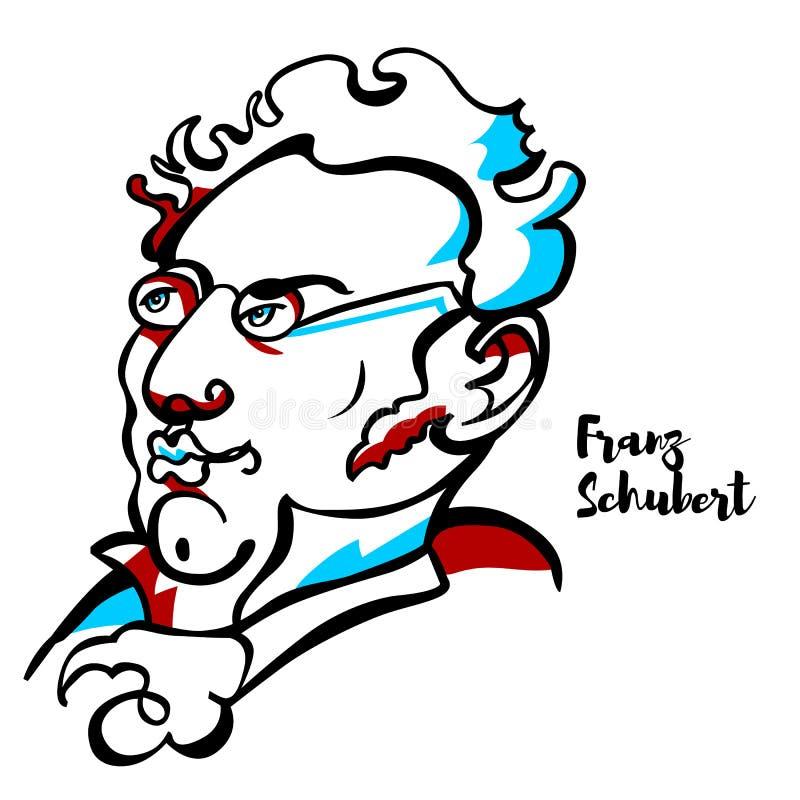 Портрет Франц Шуберт бесплатная иллюстрация