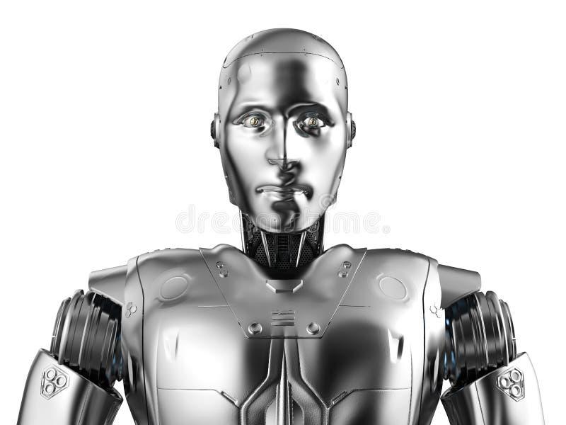 Портрет робота гуманоида иллюстрация вектора