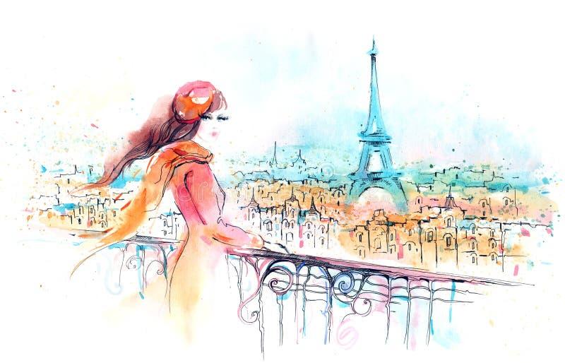 Париж illustration stock