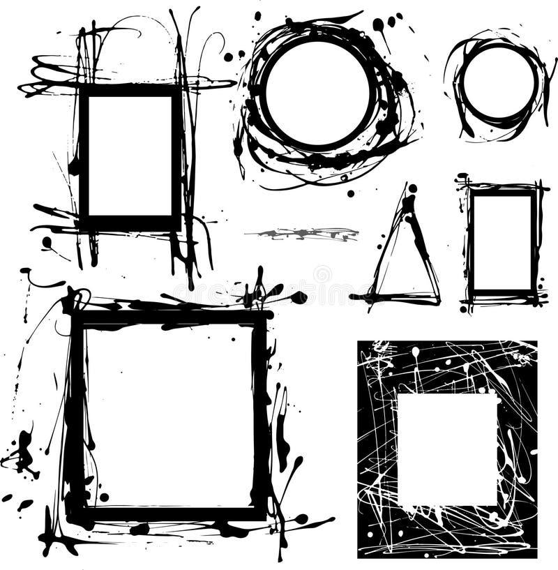 Пrunge-Rahmen lizenzfreie abbildung