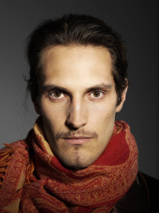 Ðœan with mustache stock image
