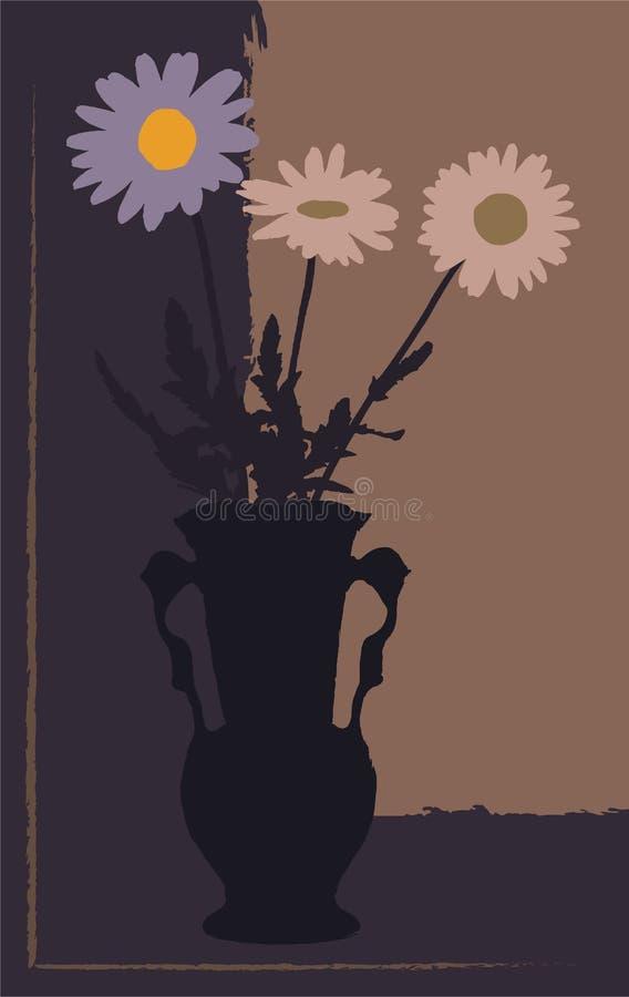 ÐžÑ  Ð ½ Ð ¾ Ð ² Ð ½ Ñ ‹Ðµ RGBVase met bloemen in avondtonen royalty-vrije illustratie