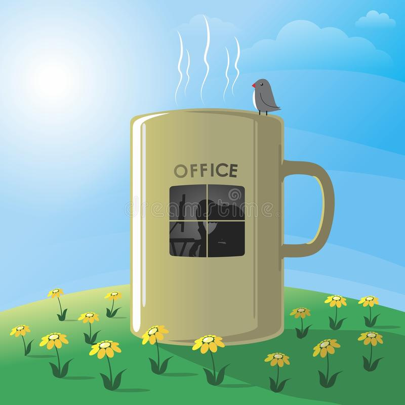 Оffice vector illustratie