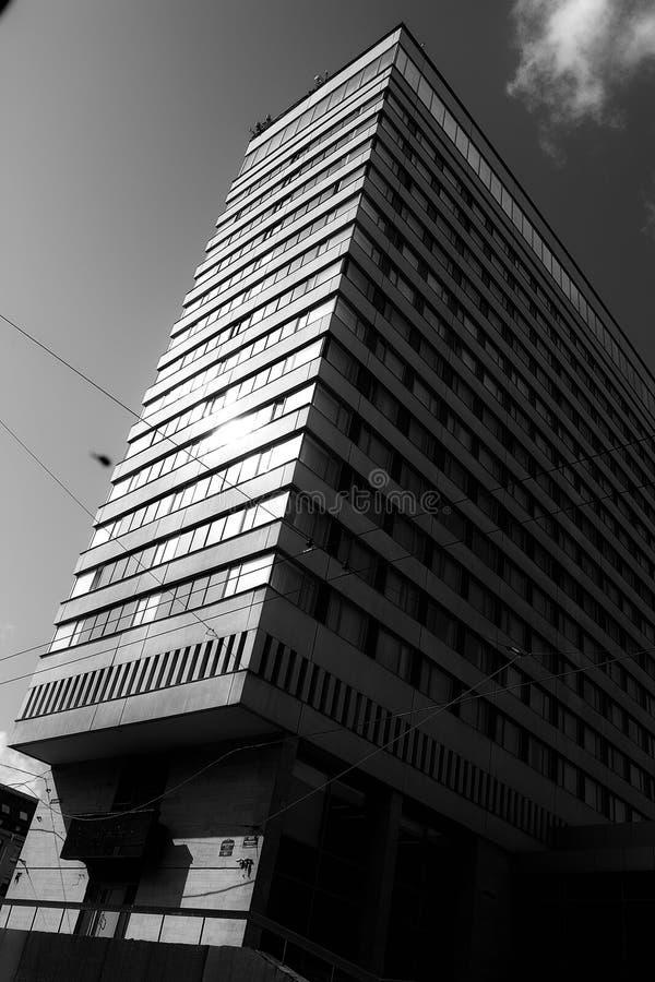 Ð  rchitecture Radziecka era Hotelowy «Sovetskaya « zdjęcia stock