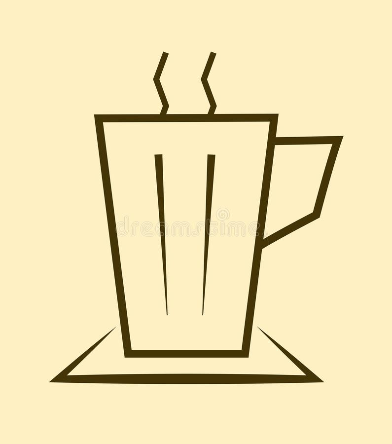 Ð ¡ επάνω του καυτού τσαγιού Ð ¡ επάνω του εικονιδίου τσαγιού Επίπεδο σχέδιο Διάνυσμα illustrat απεικόνιση αποθεμάτων