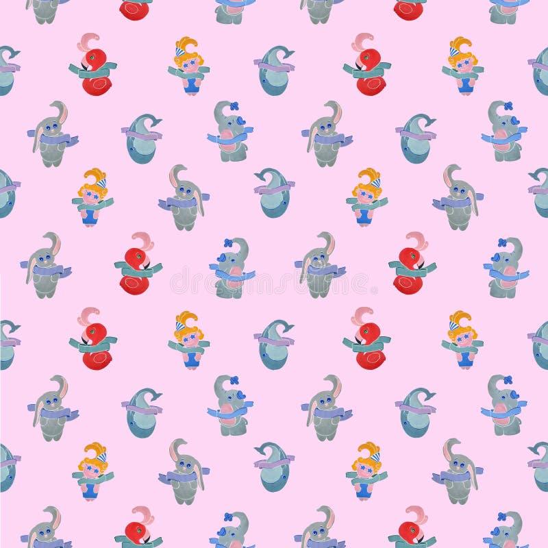 Ð-¡ hild nahtloses Muster auf einem rosa Hintergrund lizenzfreie abbildung
