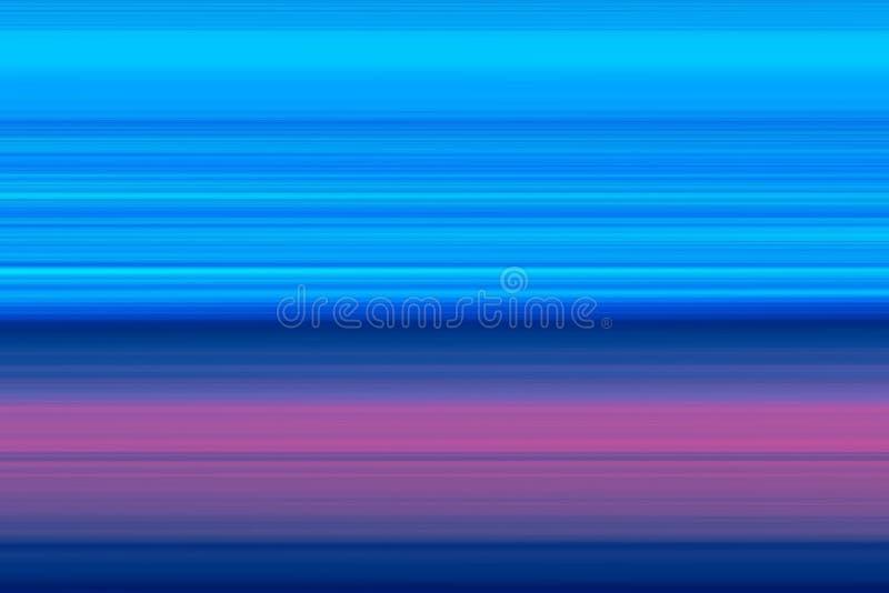 Ð ¡ horyzontalnych linii olorful abstrakcjonistyczny jaskrawy tło, tekstura w błękitnych brzmieniach ilustracja wektor
