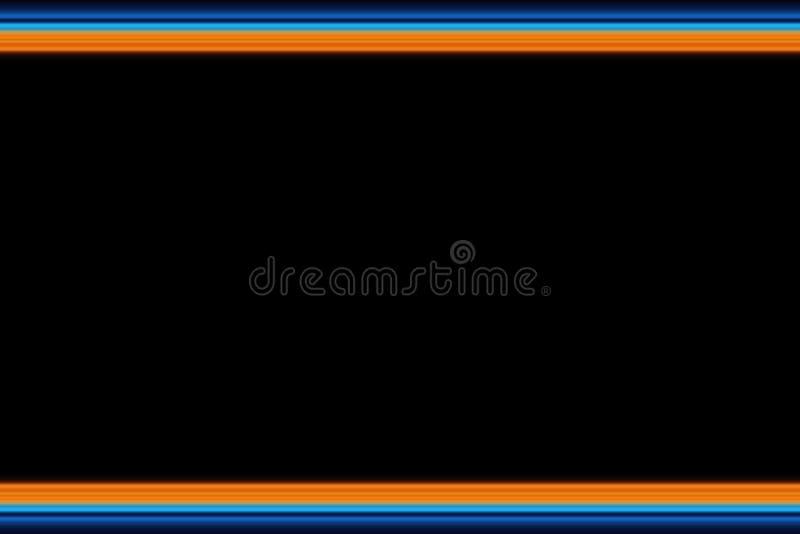 Ð ¡ horyzontalnych linii olorful abstrakcjonistyczny jaskrawy tło, tekstura w pomarańczowych i błękita brzmieniach ilustracja wektor
