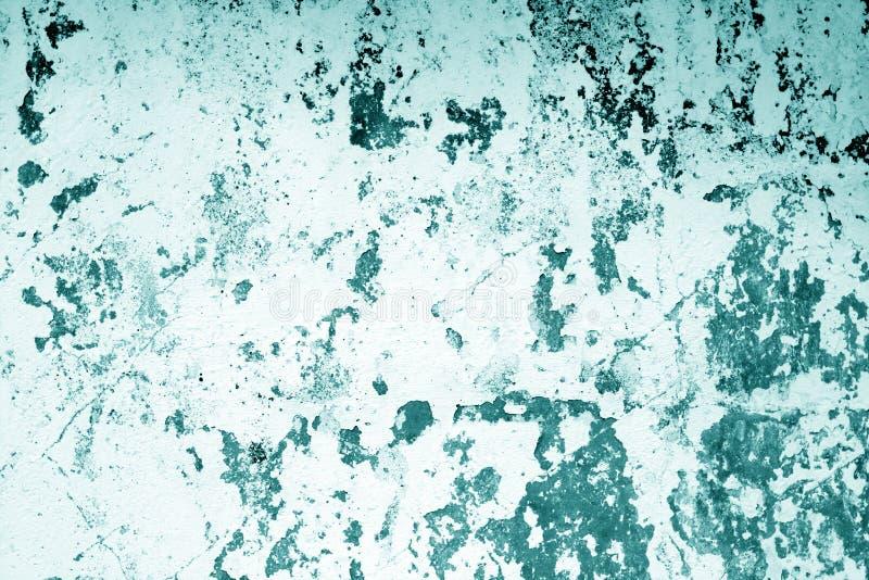 Ð-¡ krattade riden ut cementväggtextur i cyan signal arkivfoton