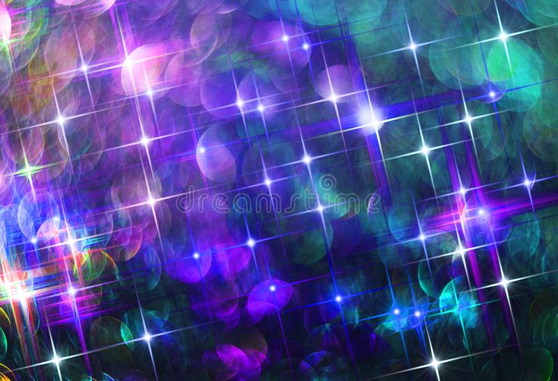 Ð-¡ omposition av att skina färgrika stjärnor på en svart bakgrund royaltyfri fotografi