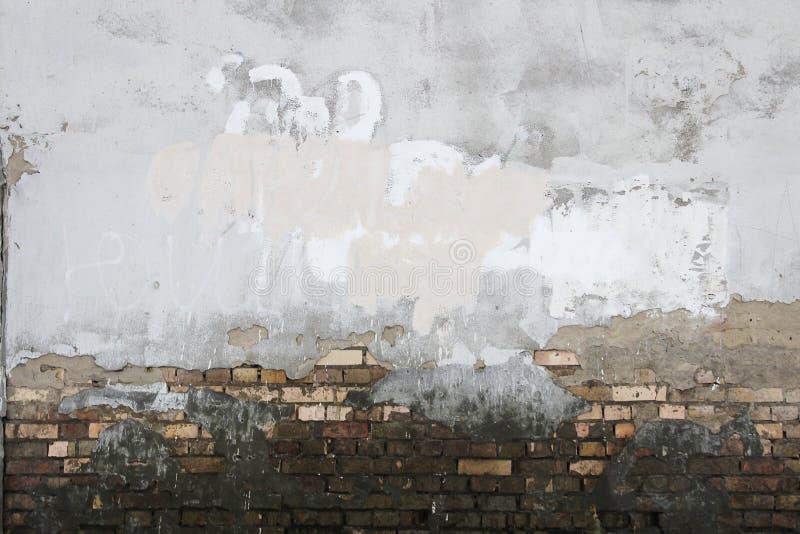Ð ¡ oncrete van het de bakstenenvuil van het muurpleister de textuurachtergrond stock afbeelding