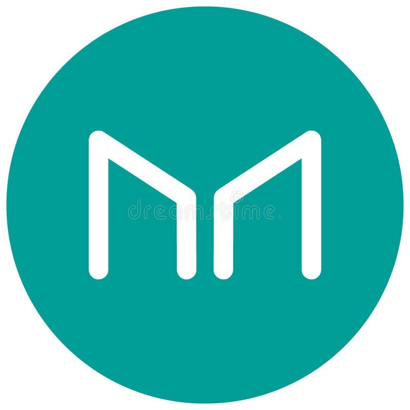 Ð-¡ ryptocurrency Hersteller MKR - Logo vektor abbildung