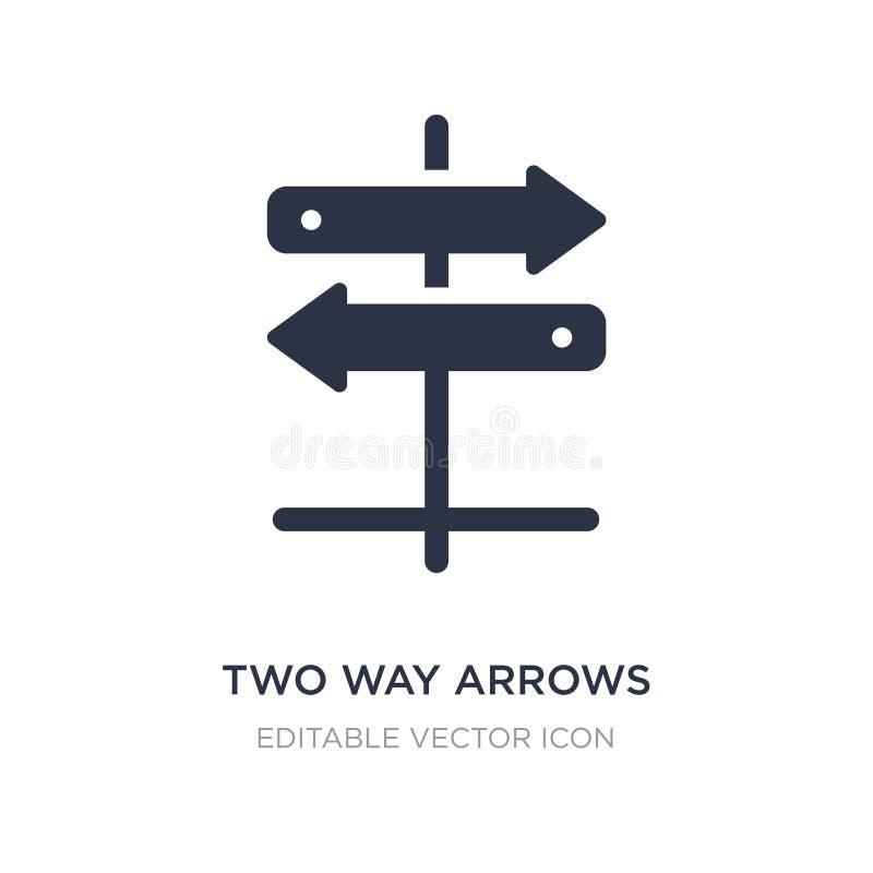 двухсторонний значок стрелок на белой предпосылке Простая иллюстрация элемента от концепции дела иллюстрация штока