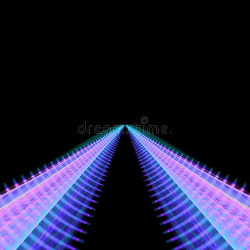 Двойные изогнутые следы водя в расстояние иллюстрация штока