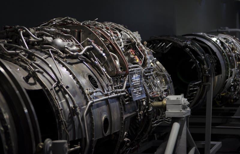 Двойной двигатель турбореактивности для украинского вверх-конца воздушных судн стоковые изображения rf