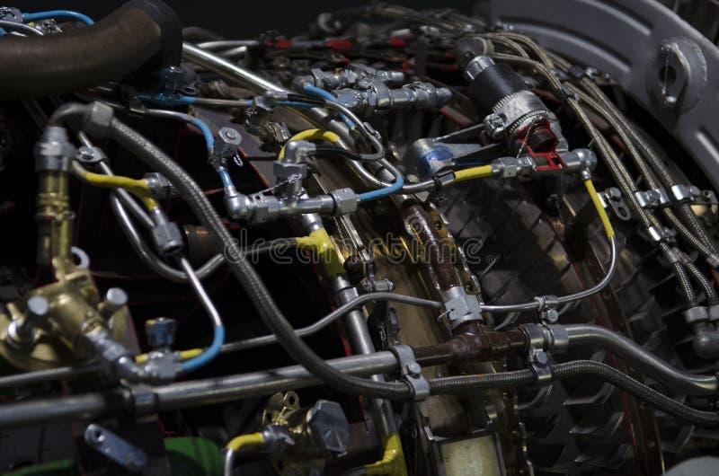 Двойной двигатель турбореактивности для украинского вверх-конца воздушных судн стоковое изображение