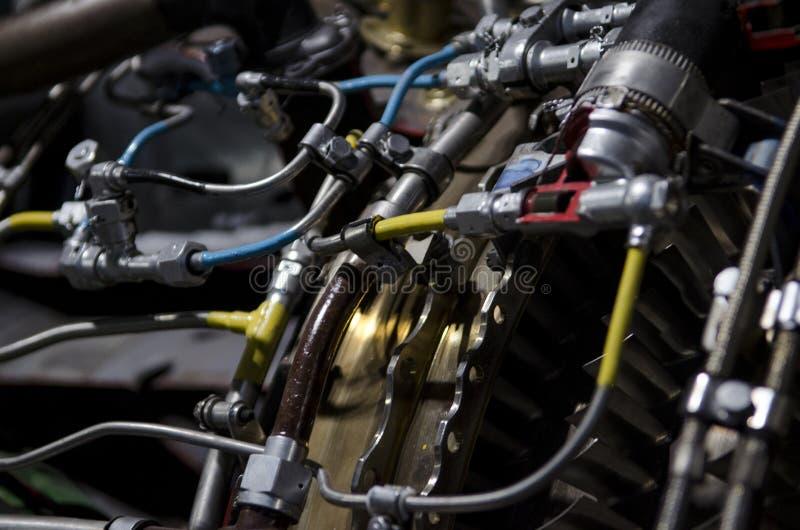 Двойной двигатель турбореактивности для украинского вверх-конца воздушных судн стоковое фото rf