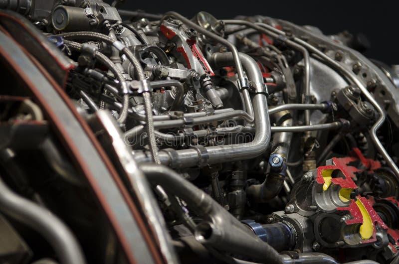 Двойной двигатель турбореактивности для украинского вверх-конца воздушных судн стоковое изображение rf