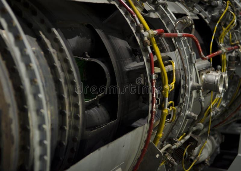 Двойной двигатель турбореактивности для украинского вверх-конца воздушных судн стоковые фотографии rf