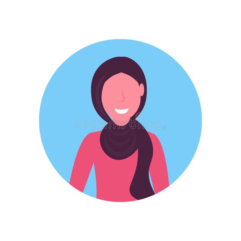 Девушка арабского воплощения стороны женщины арабская нося предпосылку традиционного портрета персонажа из мультфильма hijab женс бесплатная иллюстрация