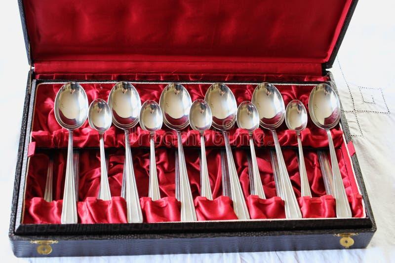 Декоративная коробка с silverware antivenin стоковое фото rf
