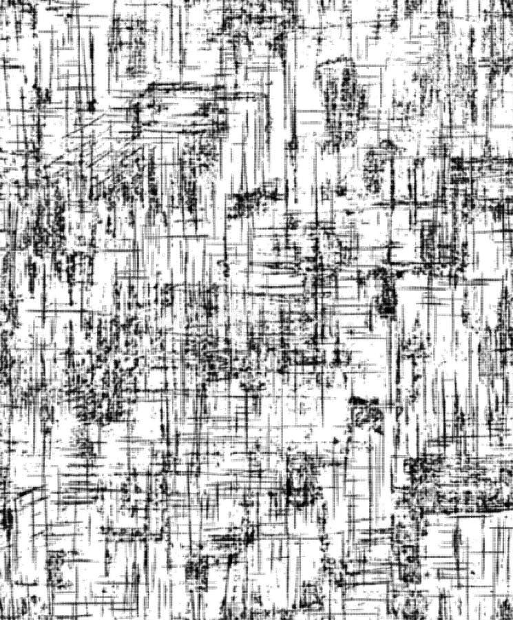 Декоративное fon, белый и черный Абстрактная предпосылка с геометрической картиной треснутая земная текстура Предпосылка дизайна  бесплатная иллюстрация