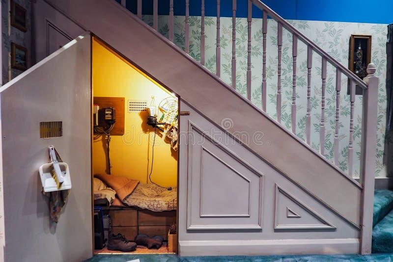 Делать Гарри Поттера общественная привлекательность в Leavesden, Лондоне, Великобритании которая сохраняет и витрины иконические  стоковая фотография rf